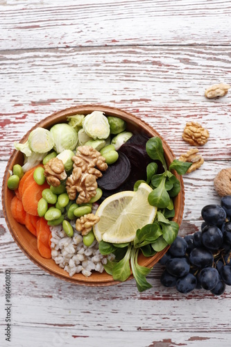 Fotobehang Boeddha Vegetarian Buddha Bowl The concept of healthy dietary nutrition