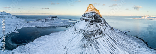 Kirkjufell mountain in winter, Iceland