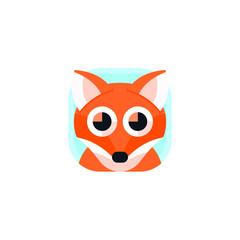 Cute Fox App Icons Logo Vector Isolated