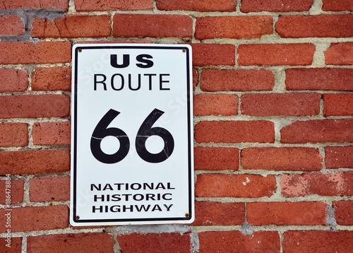 Plexiglas Route 66 Historic US Route 66 sign.