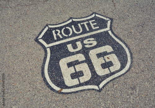 Poster Chicago Route 66 sign.