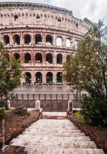 Fotobehang Rome found the colloseo