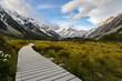 Walk way bridge to Mt Cook New Zealand