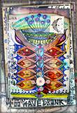 Manoscritto e disegni con simboli esoterici,astrologici,alchemici e pianta magica