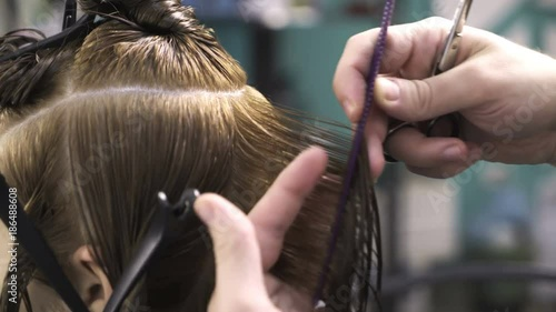 GamesAgeddon - Hair dye cutting in process - Lizenzfreie Fotos ...