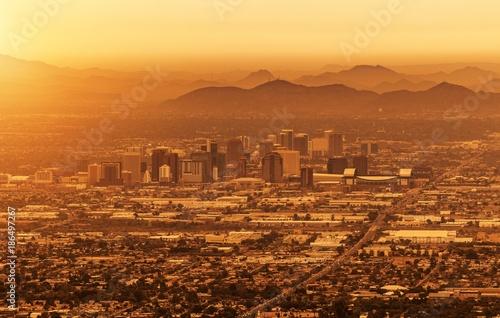 Foto Spatwand Arizona Phoenix Arizona Cityscape