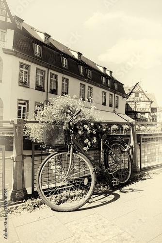 Fotobehang Fiets Bicycle in Strasbourg