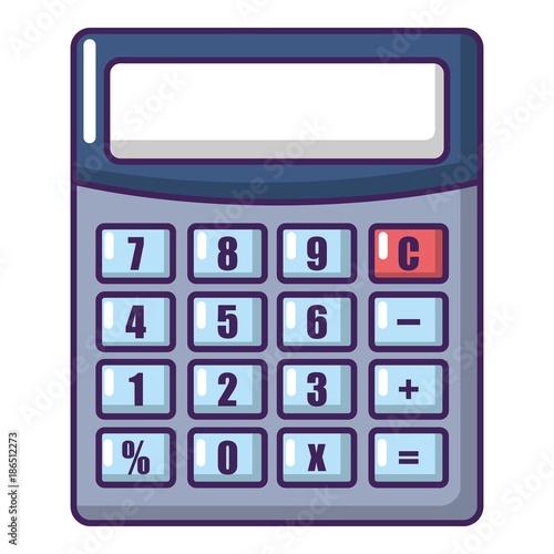 Calculator icon, cartoon style. - 186512273