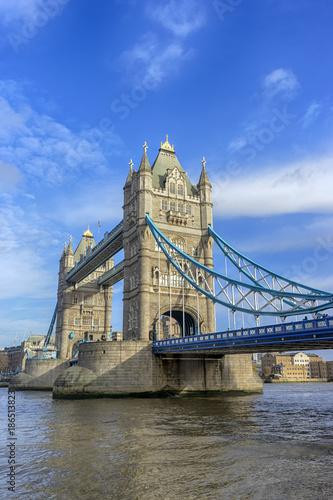 Fotobehang London turístico puente de las dos torres de Londres