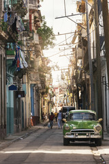 Typical street of Havana.