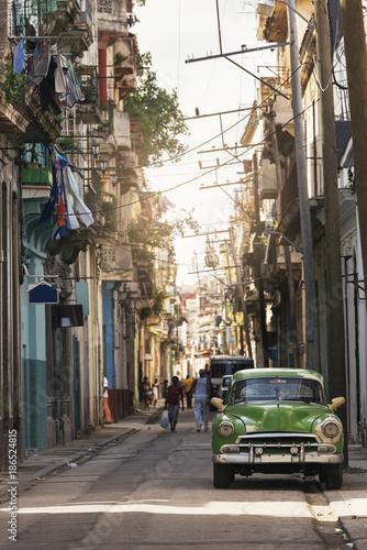 Tuinposter Havana Typical street of Havana.