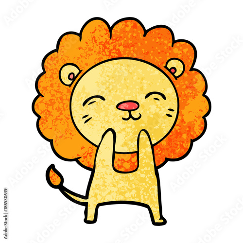 Poster cartoon lion