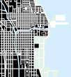 Urban vector city map of Chicago, USA