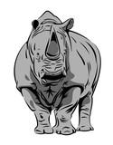 Vector image of a rhinoceros - 186534214