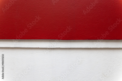 red and white cement wall