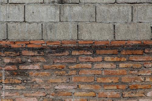 In de dag Baksteen muur multiple brick wall
