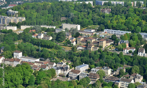Meulan, France - july 7 2017 : aerial photography