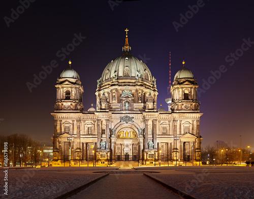 Aluminium Berlijn Berlin Cathedral At Night Panorama