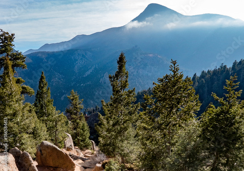 Fotobehang Blauwe jeans Blue Mountain Peak