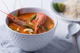 Traditional Thai soup Tom Yam - 186585851