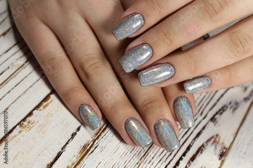 Foto op Canvas Manicure Manicured nails Nail Polish art design.