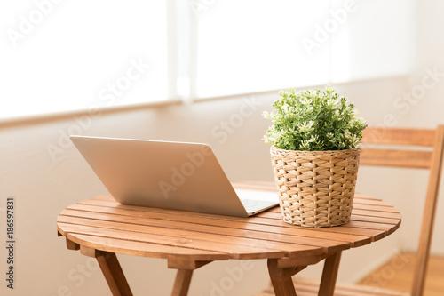Foto Murales 観葉植物とテーブル