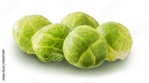 Foto op Canvas Brussel Brussels Sprouts Isolated on White Background
