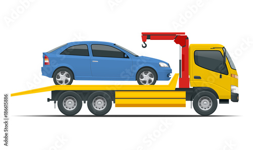 Tow truck city road assistance service evacuator  Tow truck delivers