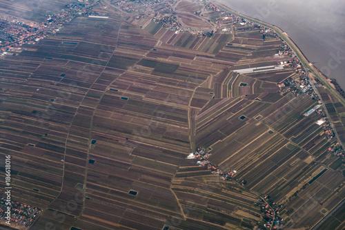 Luftbild ländliche region