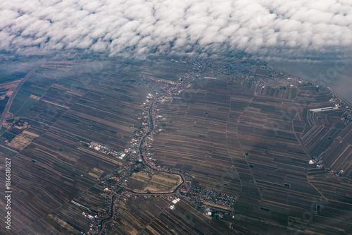 Foto op Plexiglas Parijs Luftbild ländliche region