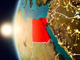 Sunset above Egypt from space - 186628077