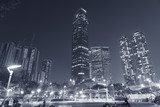 modern skyscraper and residential building in Hong Kong city at night - 186630673