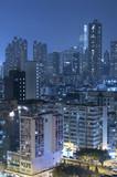 Skyline of Hong Kong city at night - 186630864