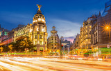 Madrid gran via at dusk time,Spain - 186635279