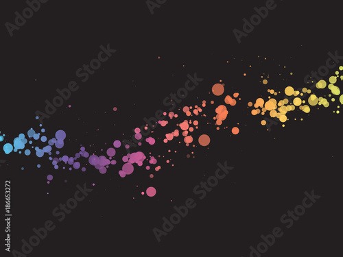abstract color dots wave background