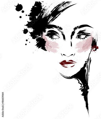 piekne-kobiety-logo-kobiety-stawiaja-czolo-makeup-na-bialym-tle-wektor