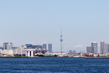 tokyo skytree from sea