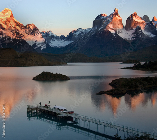 Aluminium Zonsopgang Sunrise in Torres del Paine National Park - Patagonia - Chile