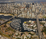 Aerial view of Vancouver - British Columbia - Canada poster
