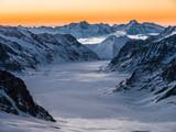 Aletschgletscher mit Aussicht auf das Eggishorn, Silvester 2017 - 186676006