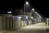 empty night street in residential area