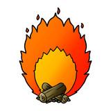 cartoon blazing camp fire - 186682828