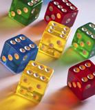 Colored Dice - Gambling poster