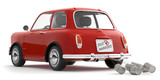 rotes Auto just married - 186684013