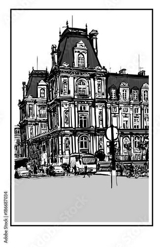 Staande foto Art Studio Hotel de Ville in Paris