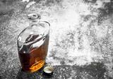 French cognac in bottle. - 186695880