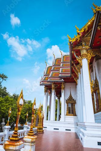 Foto op Plexiglas Bangkok Bangkok Wat Bopitpimuk Worawihan, Thailand