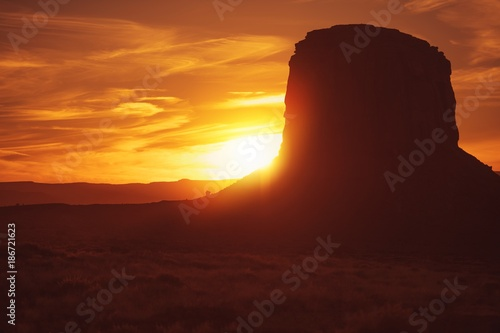 Deurstickers Arizona Norther Arizona Desert Sunset