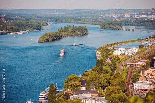 Rhine River in Bingen - 186721842