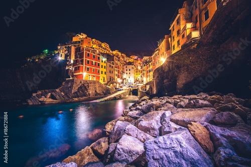Fotobehang Liguria Riomaggiore Cinque Terre